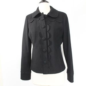 Boden Mayfair Wool Jacket sz 6 women Black Coat